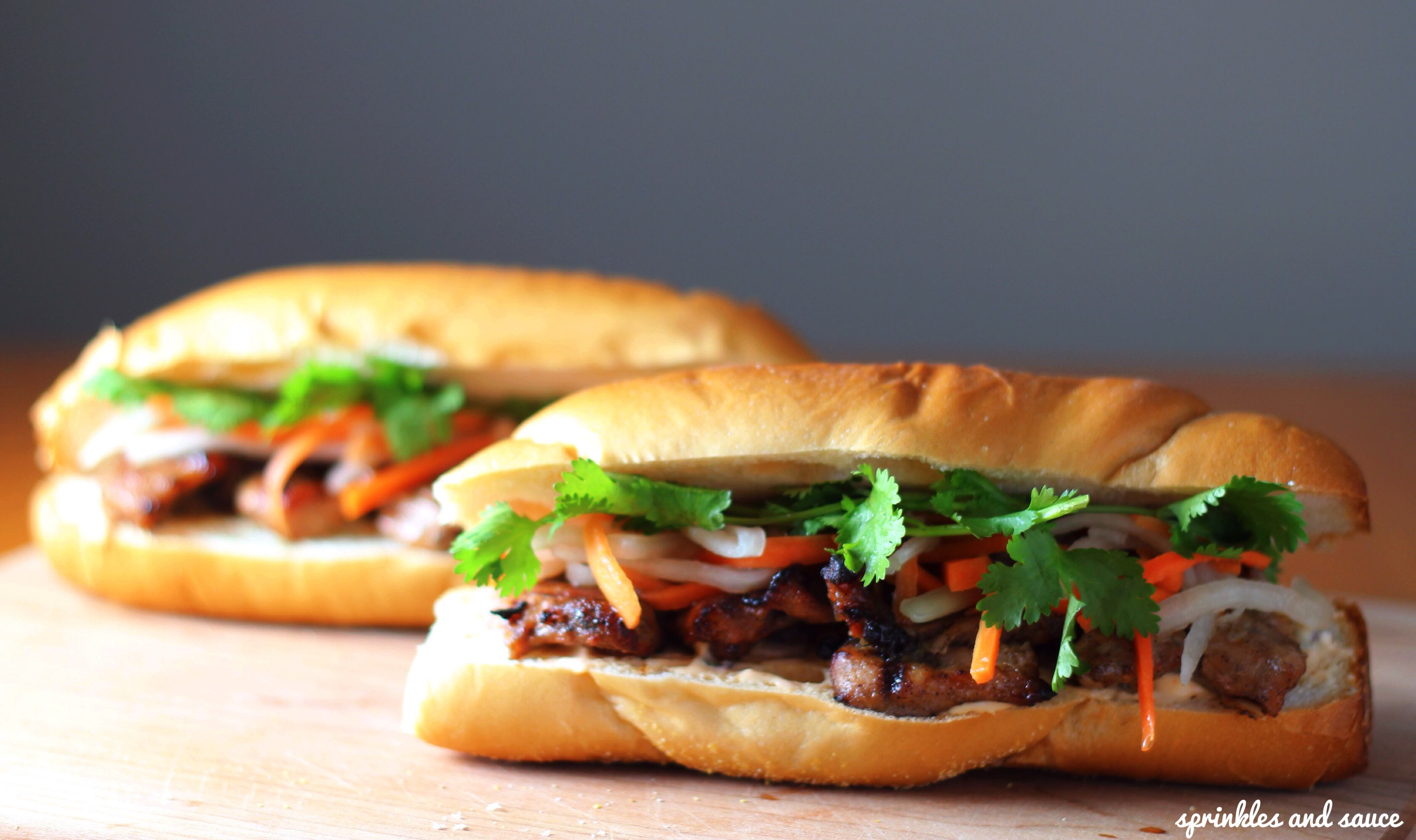 Lemongrass-pork Banh Mi